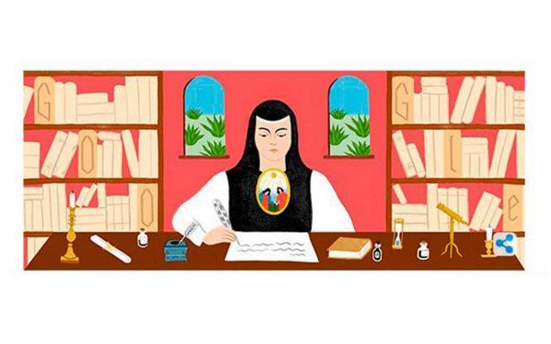 Con doodle, Google celebra natalicio de Sor Juana Inés de la Cruz