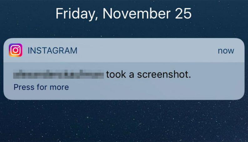 Instagram pronto informará de screenshots de publicaciones e historias